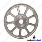 Bidese - Volano principale in alluminio 1000 mm per monofilo - Completo di rivestimento in gomma