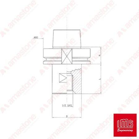 IMS – Cono portaforetto HSK 80 B – Forel