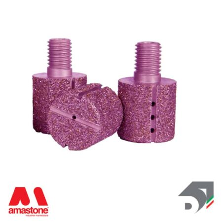 Testina elettrodeposta intercambiabile Piatta - Pink Line - Diamar