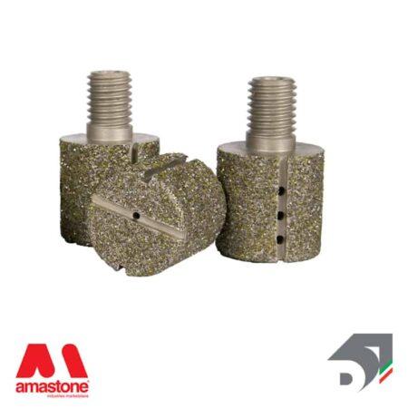 Testina elettrodeposta intercambiabile Piatta - Standard Line - Diamar