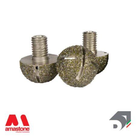 Testina elettrodeposta raggiata intercambiabile – Standard Line - Diamar
