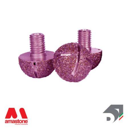 Testina elettrodeposta raggiata intercambiabile – Pink Line - Diamar