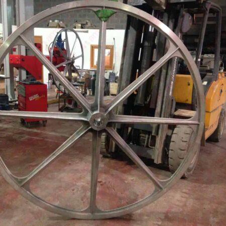 Pellegrini - Volano in alluminio 2000 mm per monofilo - Completo di rivestimento in gomma