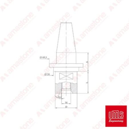 IMS - Cono portaforetto ISO 40 - Ravelli
