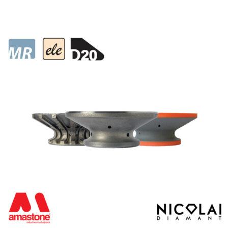 Mola da profilo elettrodeposta 60 - Forma D20 - Nicolai