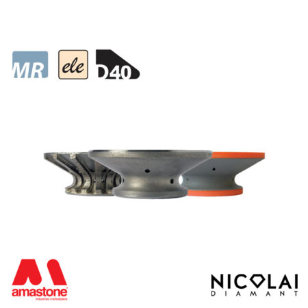 Mola da profilo elettrodeposta 60 - Forma D40 - Nicolai