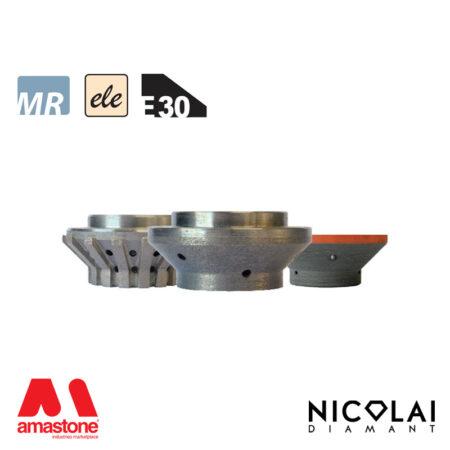 Mola da profilo elettrodeposta 60 - Forma E30 - Nicolai