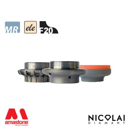Mola da profilo elettrodeposta 60 - Forma F20 - Nicolai
