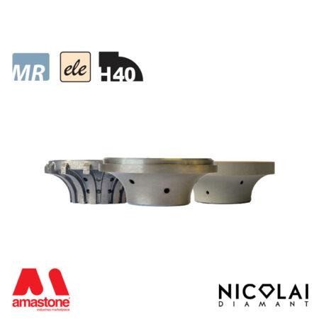 Mola da profilo elettrodeposta 60 - Forma H40 - Nicolai