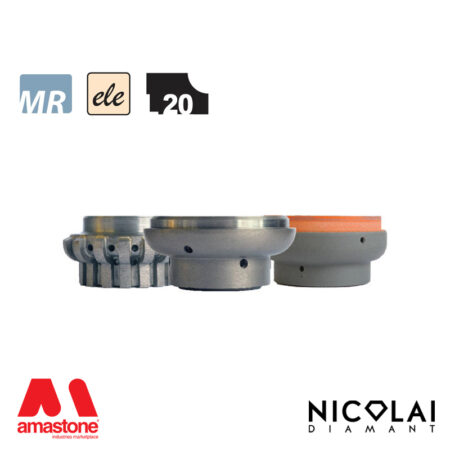 Mola da profilo elettrodeposta 60 - Forma L20 - Nicolai