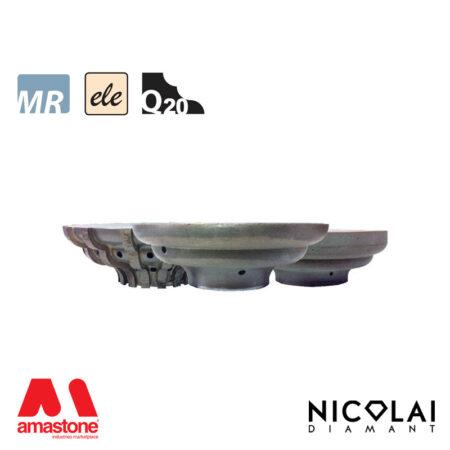 Mola da profilo elettrodeposta 60 - Forma Q20 - Nicolai