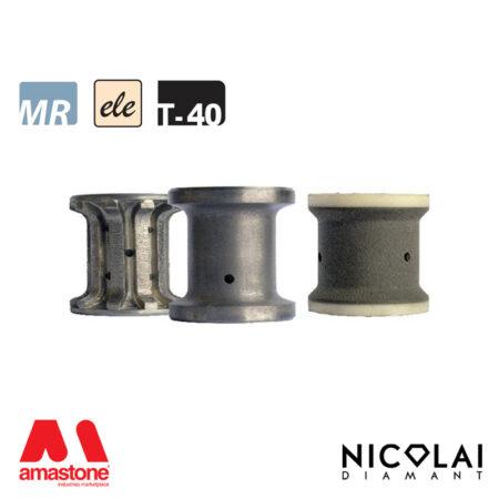 Mola da profilo elettrodeposta 60 - Forma T40 - Nicolai