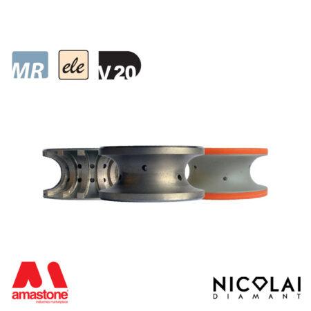 Mola da profilo elettrodeposta 60 - Forma V20 - Nicolai