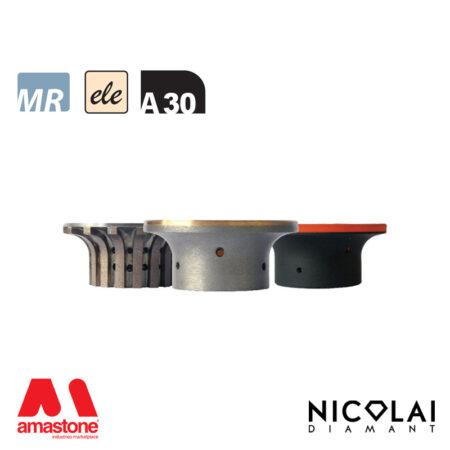 Mole da profilo marmo - elettrodeposte serie 60 - Forma A30 - Nicolai