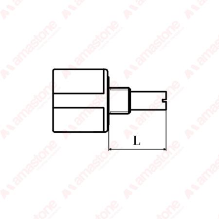 Bourns - Potenziometro multigiri 10KΩ - Lunghezza dell'asse L