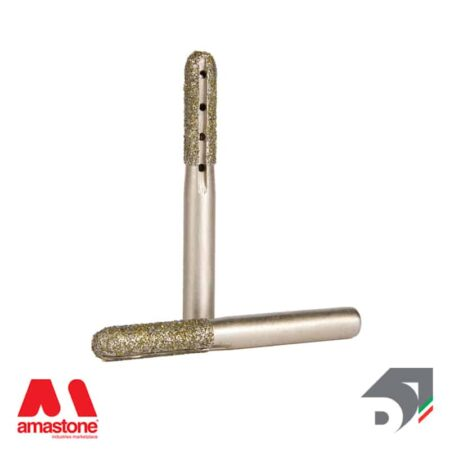 Fresa Ball Nose Elettrodeposta Testa Raggiata Per Marmo Attacco Cilindrico 10 Mm Diamar 3