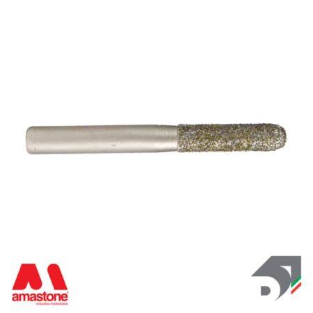 Fresa Ball Nose Elettrodeposta Testa Raggiata Per Marmo Attacco Cilindrico 10 Mm Diamar