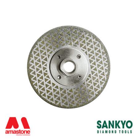 Disco diamantato elettrodeposto per taglio e levigatura marmo - Sankyo DDE Tris