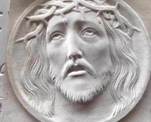 Basso Rilievo Di Gesù In Marmo