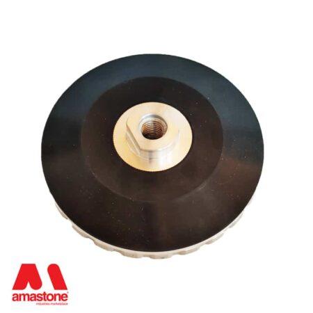 Platorello attacco a chiocciola Ø130 mm in alluminio