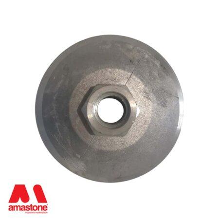 Platorello attacco a chiocciola Ø150 mm in alluminio