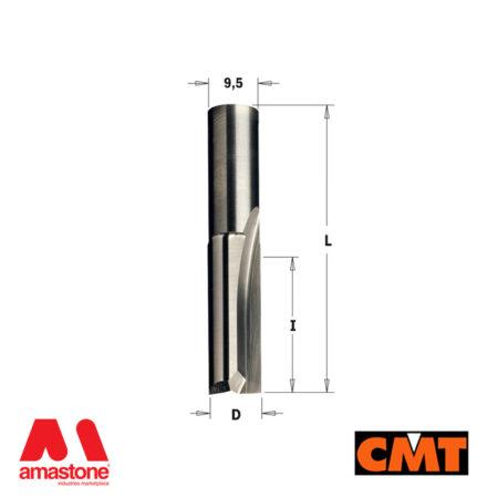 Fresa per legno a taglienti diritti – dia.3/12 mm altezza 10/26mm – CMT