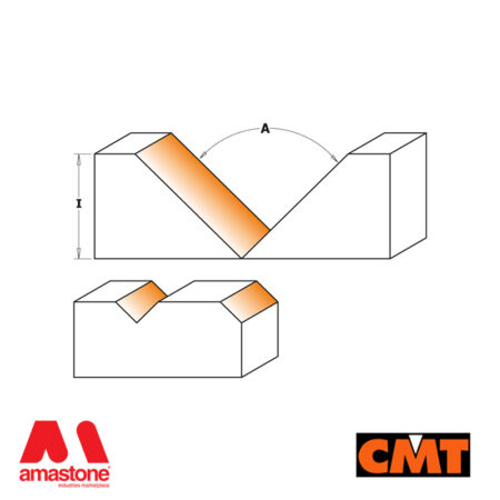 Fresa per legno per scanalature a V, decorazioni e folding - CMT