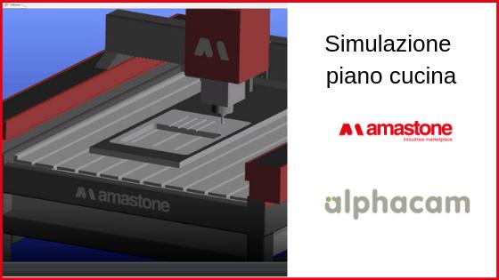 Simulazione Piano Cucina alphacam