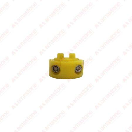 Gancio di bloccaggio in plastica per rulliere 45x20x30 mm