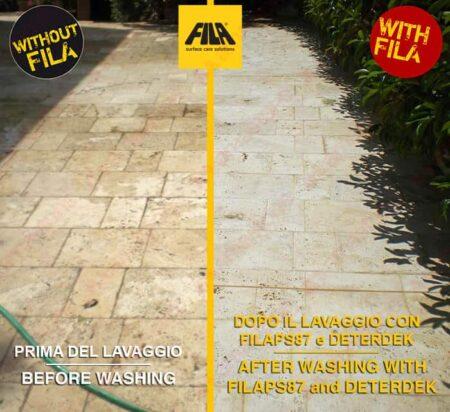 Disincrostante acido pavimenti DETERDEK - Fila - esempio
