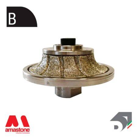 "Mola con tastatore rotante per marmo - Profilo ""B"" mezzo toro concavo – Diamar"