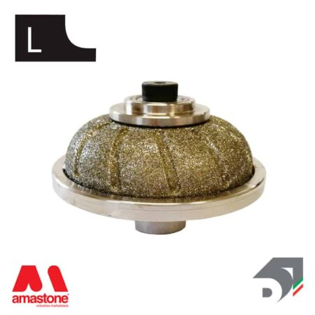 """Mola con tastatore rotante per marmo - Profilo """"L"""" mezzo toro convesso – Diamar"""