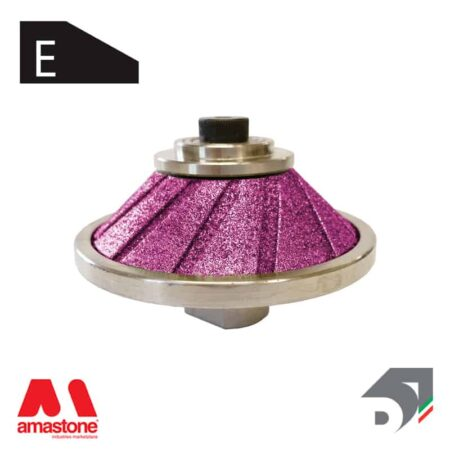 """Mola con tastatore rotante 45° per ceramica e granito - Profilo """"E"""" – Diamar"""