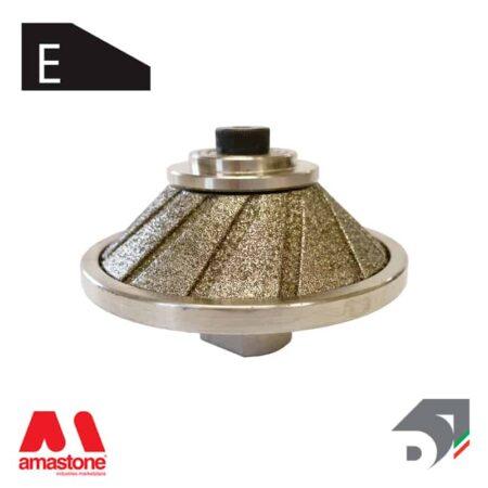 """Mola con tastatore rotante 45° per marmo - Profilo """"E"""" – Diamar"""