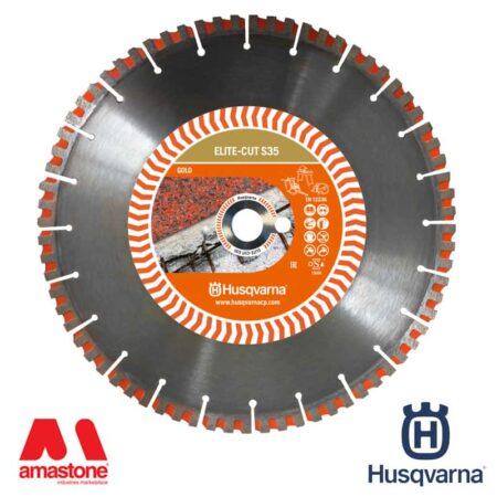 """Disco marmo/granito versione """"GOLD"""" Elite-Cut S35 per mototroncatrici, taglierine e tagliasuolo – Husqvarna"""