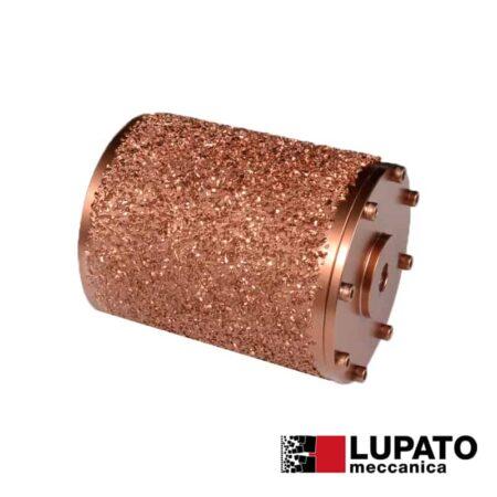 Rullo effetto rullato L. 140 mm / #2000 per macchina Birba - Rollex - Lupato