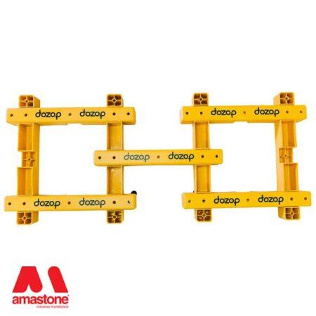2 x Carrellini modulare componibili uniti - Modular 4 - Dozop