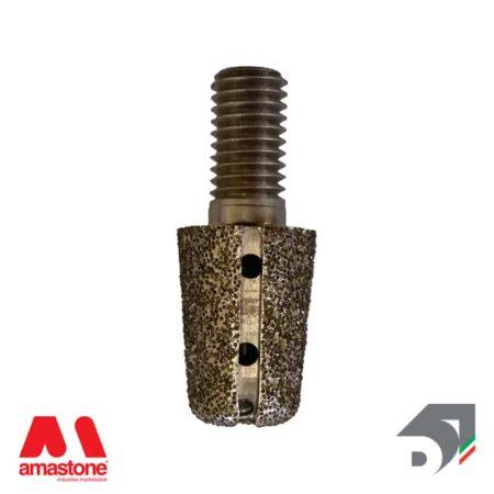 Testina elettrodeposta conica intercambiabile Ø14/18 mm / M10 - Diamar