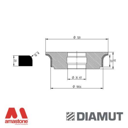Mola Ø100 mm - Profilo A23 R10 - Diamut