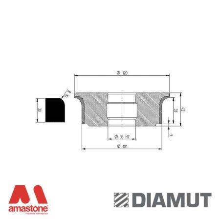 Mola Ø100 mm - Profilo A33 R10 - Diamut