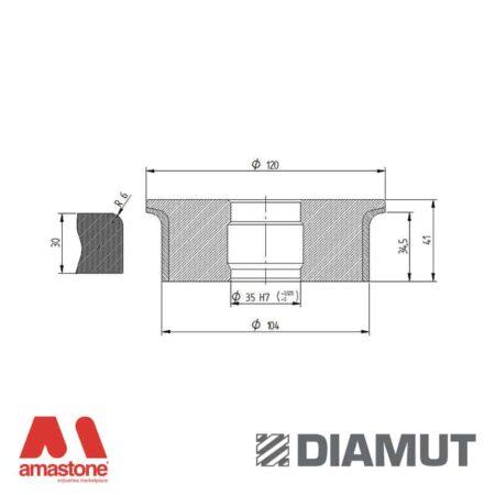 Mola Ø100 mm - Profilo A33 R6 - Diamut