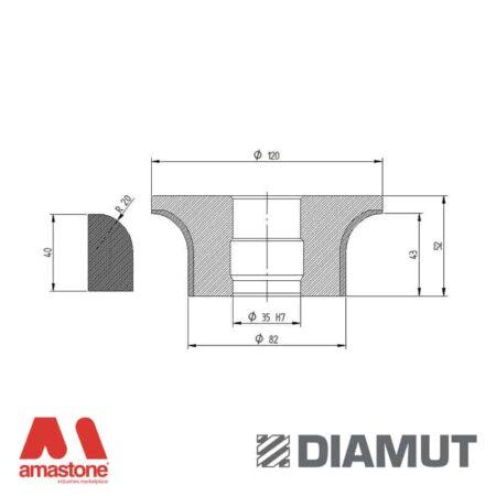 Mola Ø100 mm - Profilo A43 R20 - Diamut