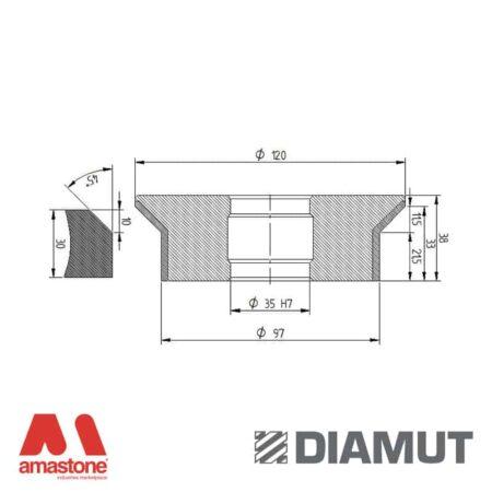 Mola Ø100 mm - Profilo E33 B11,5 - Diamut