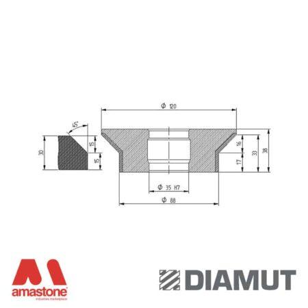 Mola Ø100 mm - Profilo E33 B16 - Diamut