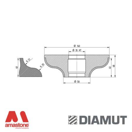 Mola Ø100 mm - Profilo F43 - Diamut