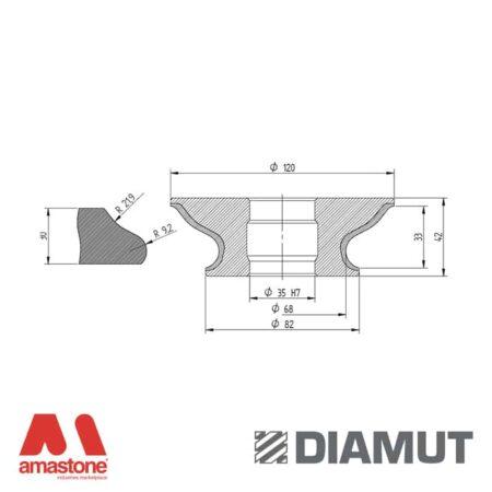 Mola Ø100 mm - Profilo G33 - Diamut