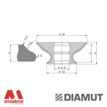 Mola Ø100 mm - Profilo G43 - Diamut