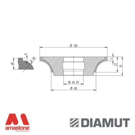 Mola Ø100 mm - Profilo H23 - Diamut