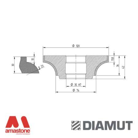 Mola Ø100 mm - Profilo H36 - Diamut