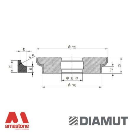 Mola Ø100 mm - Profilo L23 - Diamut